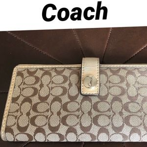 Authentic Coach Checkbook Cover
